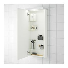 GODMORGON Wall cabinet with 1 door, high gloss white high gloss white 15 3/4x5 1/2x37 3/4