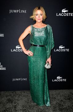Actress Kathleen Robertson attends the 16th Costume Designers Guild Awards with presenting sponsor Lacoste at The Beverly Hilton Hotel on Fe...
