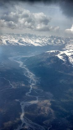 Flying in the high Alaskan clouds