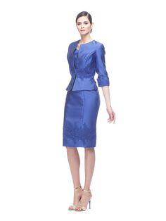 Abito da cerimonia Delsa, linea Ambra Cerimonia 2016 C9668 Mikado e pizzo rebrodato ricamato Colore: Royal blu - Blu - Smeraldo #delsa #delsa2016 #ambracerimonia #mikado #pizzorebrodatoricamato #royalblu #blu #smeraldo