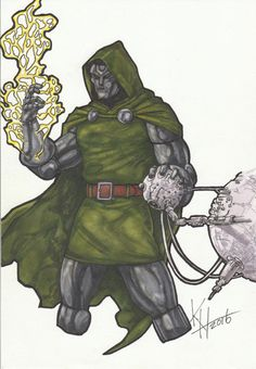 Doctor Doom Original Art, Marvel, Fantastic Four, Dr. Strange