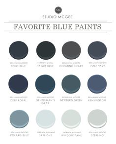 Ask Studio McGee Our Favorite Blue Paint is part of Home Accents Benjamin Moore - We rounded up our favorite blue paint! Exterior Gris, Exterior Colors, Exterior Paint, Interior Paint Colors, Paint Colors For Home, House Colors, Paint Colours, Blue Gray Paint Colors, Interior Design