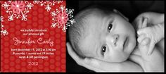 birth announcement...Pretty Snowflakes:Scarlet