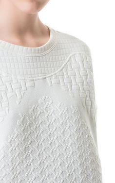 beautiful emboss/pattern, sweatshirt by Zara