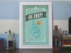 Oh Snap! 12x18 Art Print by Earmark Social