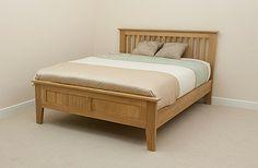 oak furniture land-Bevel Solid Oak King-Size Bed