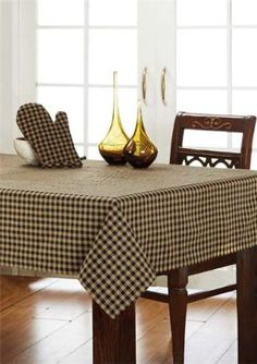"Country Style Black Check Table Cloth 60x60"" Olivia's Heartland http://www.amazon.com/dp/B00CVJ49EQ/ref=cm_sw_r_pi_dp_Wy3Stb05RW8ERMAT"