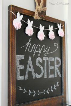 Super Fun Easter Garlands and Banners   Eighteen25