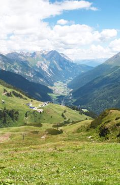 Views across the Austrian Alps from the ski resort of St Anton in summer #alps #stanton #austria