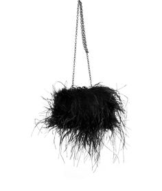 Black feather bag  ZsaZsa Bellagio