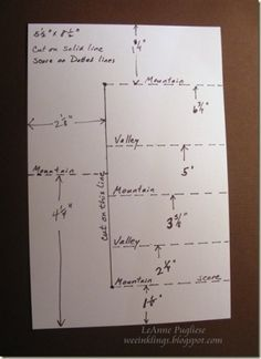 Stair step card measurements by myra