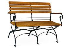 Rebecca Folding Two-Seater Bench on OneKingsLane.com