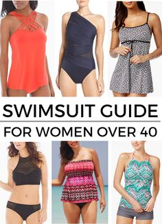 2017 Swimsuit Guide for Women Over 40 - Swimwear solutions for various problem areas plus a roundup of current swimsuit trends! Source by jolynneshane over 40 Swimsuits 2017, Modest Swimsuits, Fashion Swimsuits, Best Swimsuits For Moms, Summer Dresses For Women, Suits For Women, Clothes For Women, Outfit Strand, Street Style