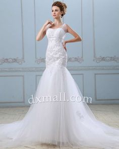 Elegant & Glamorous #Wedding Dress, Luxurious #Bridal #Gown, #Trumpet/Mermaid Wedding Gown. Do you love this?