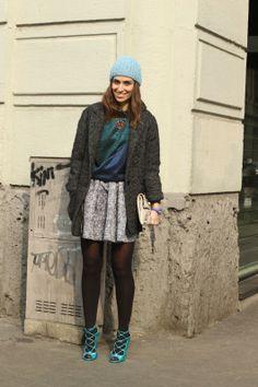 #erikaboldrin #skirt #hat #jumper #milan #fashion #streetstyle #streetview #street #style #offcatwalk ON #sophiemhabille.com