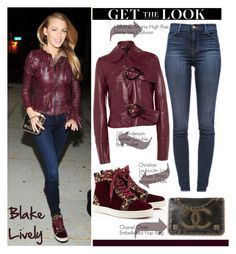 """Get the Look: Blake Lively"" by helenevlacho ❤ liked on Polyvore featuring J Brand, Christian Louboutin, J.W. Anderson, Chanel, GetTheLook, StreetStyle, blakelively and CelebrityStyle"