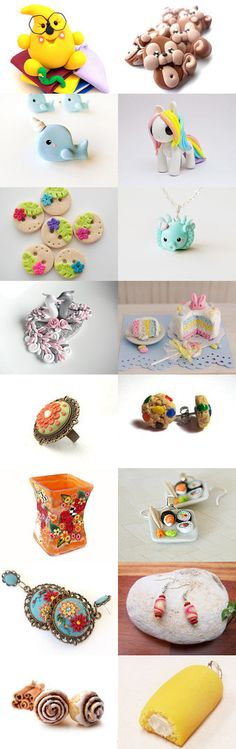The world in Clay by Andrea on Etsy - Wonderful polymer clay creations