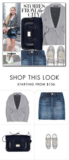 """""""Stroies from the city"""" by leathersatchel ❤ liked on Polyvore featuring Balmain, Frame and Maison Margiela"""