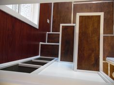 8x20 Crosswinds Tiny House Stairs Looking Down