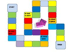 Free Blank Gameboards - Use for centers or partner practice with vocabulary words, spelliing words, math facts, etc.