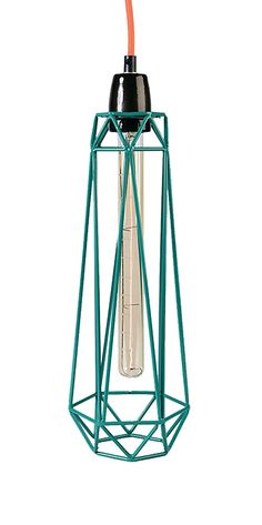 Lampe Diamond #2 bleu/orange - Filament Style - Visuel 1