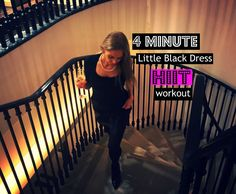 4 Minute Little Black Dress Hiit Workout (get ready now for party season)
