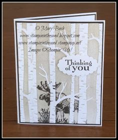 Stampin' in the Sand: Card: Moose in the Trees