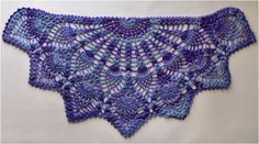 Pineapple Peacock Shawl – half circle shawl from the center outwith perfect picot border. Not often happens so beautiful stuff – amazing shawl made in crochet technique belongs to absol…