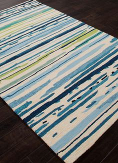 Colours Sketchy Lines Blue White Area Rug
