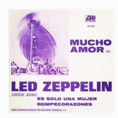 "The cover for the 45 of ""Whole Lotta Love"" for the Mexican market. Love the purple! #ledzeppelin #rockandroll #robertplant #johnbonham #johnpauljones #jimmypage #zeppelin"