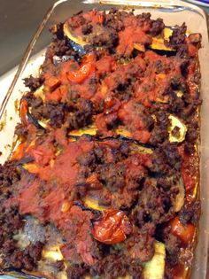 Cave Food Kitchen: Paleo Eggplant Lasagna **Increase the amount of liquid or it will be dry. Paleo Eggplant Recipes, Paleo Recipes Easy, Whole 30 Recipes, Clean Eating Recipes, Veggie Recipes, Beef Recipes, Healthy Eating, Healthy Food, Paleo Lasagna