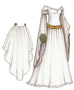 """Medieval Wedding Gown"" // more like a wedding rendition of Eowyn's white dress"