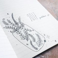 I don't journal so often. But when I do, I just write so many things. And this is my 2017 journal beginning page. 😂 This is my Travellers Notebook insert by. Bullet Journal Cover Page, Bullet Journal Ideas Pages, Bullet Journal Layout, Journal Covers, Bullet Journal Inspiration, Journal Pages, Bullet Journals, Leaf Drawing, Plant Drawing