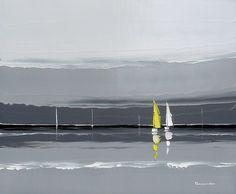 La voile jaune  | 55 x 46 cm | Huile sur toile