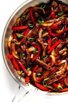 Love this Sizzlin Spicy Szechuan. Love this Sizzlin Spicy Szechuan Stir-Fry! It only takes about 20 minutes to make its easy to customize with beef chicken pork shrimp or tofu and its made with the most delicious Szechuan sauce! Shrimp Stir Fry Easy, Pork Stir Fry, Stir Fry Dishes, Stir Fry Recipes, Cooking Recipes, Spicy Stir Fry Sauce, Food Dishes, Homemade Stir Fry, Szechuan Chicken