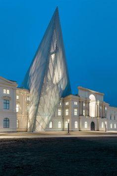 "davidjulianhansen: ""Daniel Libeskind Dresden Museum of Military History redesign #Built Beauty """