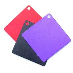 8 Economical Aluminum Squares - Use as Discs, Blanks, Tags - Lightweight - Guarantee Diy Jewelry Stamping, Stamped Jewelry, Handmade Jewelry, Diy Jewelry Supplies, Make Your Own Jewelry, Tags, Modern Jewelry, Purple And Black, Silver Color