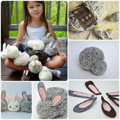 This is an easy and quick Easter craft of making pom pom bunny. They are perfect and adorable additions to any Easter basket. To make these lovely pom-pom bunnies you will require yarn, pom-pom makers, beads, small white pom-poms, felt, transparent plastic thread and glue. Pinterest Facebook Google+ reddit StumbleUpon Tumblr Steps Start by making