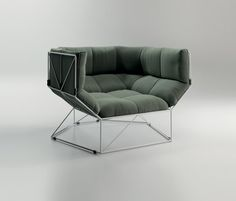 Foxhole Lounge Chair design by Nathan Yong for spHaus Italy, available from Australian distributor Own World 2 9358 1155 Furniture Decor, Modern Furniture, Furniture Design, Geometric Furniture, Geometric Fabric, Furniture Dolly, Table Design, Chair Design, Deco Design