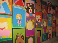 1st Grade Torn Paper Collage Self-Portraits   Lots of cute stuff for back to school on Pinterest in late August