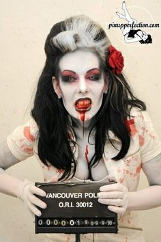 Zombie makeup - Click image to find more Holidays & Events Pinterest pins