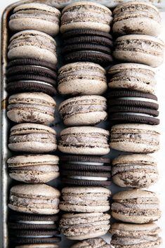 Cookies and Cream Macaron recipe. Yum! | Brom Bakery