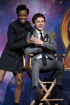 Letitia Wright & Tom Holland at the Red Carpet Fan Event in London, April 2018 <<<< *chokes on spit* ohhhh mY HOLY MARVELOUS CaPtAiN ROGeRs ITS FREAKING PETER AND SHURI THIS IS WHAT IVE BEEN WAITING FOR NO WAAAAYAYAADSGSKAJHADASGJLLLJGSASFGHKL