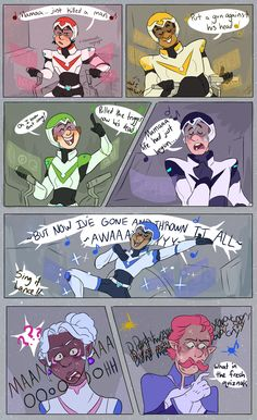 Voltron, with four screaming kids and one stressed dad inside. Voltron Comics, Voltron Memes, Voltron Fanart, Voltron Cosplay, Form Voltron, Voltron Ships, Voltron Klance, Fandoms, Power Rangers