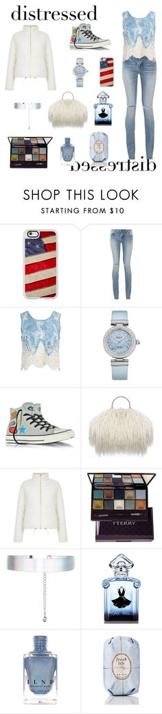 """DISTRESS CALL"" by raven-wanda-ybarra ❤ liked on Polyvore featuring Casetify, Yves Saint Laurent, Sans Souci, OMEGA, Converse, By Terry, Accessorize, Guerlain and Fresh"