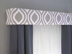Pelmet Box, Window Cornices, Valance Window Treatments, Window Coverings, Modern Window Treatments, Cornice Boards, Custom Curtains, Bedroom Curtains, Custom Fabric
