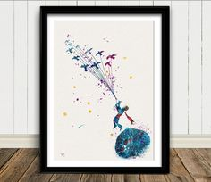 Der kleine Prinz n º 4 Aquarell-Print Le Petit von oinkartprints