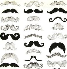 Black Mustaches fitted cotton sheet ~ ready to ship ~ FREE SHIPPING
