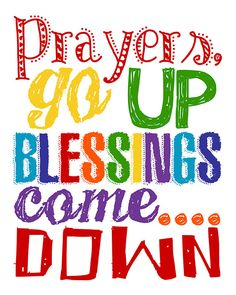 Prayers go up Blessings come down. Kid Room by LittleLifeDesigns
