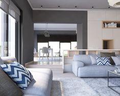 Amenajare living - Design interior - contemporan - Living, Design Interior, Design Projects, Houses